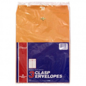 Mead Clasp Envelopes 25cm x 33cm 3/Pkg-Heavy Kraft