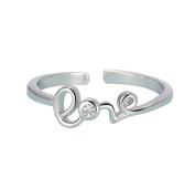 Scrox Elegant Women Rings Diamond Opening Ring Ladies Ring Women's Girls Shiny Charming Jewellery Accessories LOVE Ring Crystal Open Rings