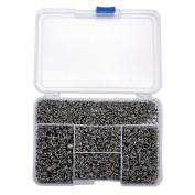 VALYRIA Elite 1 Box 3000 PCS Split Rings Jump Ring 5-8mm Platinum Colour for Jewellery Making