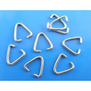 100 x Silver Tone Triangle Jump Ring Craft Bails - 9mm - L03299 *