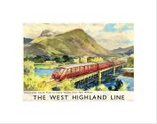 TRAVEL RAIL SCOTLAND WEST HIGHLAND LINE BRITISH RAILWAYS FRAMED PRINT B12X7879