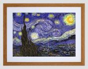 VAN GOGH STARRY NIGHT OLD MASTER BLACK FRAMED ART PRINT B12X2195