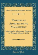 Training in Administrative Management