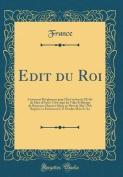 Édit Du Roi [FRE]