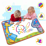 Large Water Doodle Mat ,Water Drawing Mat Pad with 2 Water Pens Kids Educational Toys Boys Girls Chrismas birthday Gift