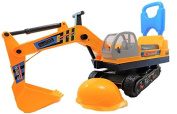 Children's Ride on Walker Push Along Excavator 2 in 1 Digger And Hard Hat