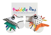Twiddle Ons Foot Finder Rattle Baby Toy that also Keeps Sock On!