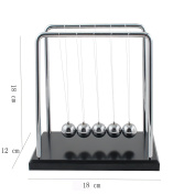 TIAN 60 Seconds Swing Newton's Cradle Large Balance Ball Pendulum Desk Toy Gadget for Kids and Office Decoration 18*12*18cm