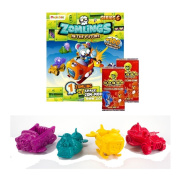 ZOMLINGS IN THE TOWN ~ SERIES 6 ~ ZOM - MOBILE PACKETS + 2 x GoGo CRAZY BONES TRADING CARD PACKETS