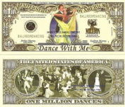Novelty Dollar Ballroom Dancing Waltz Foxtrot Tango Cha-Cha Rumba Swing Hustle Salsa Million Dollar Bills X 4