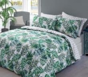 Complete duvet cover set with pillowcases fitted sheet poly cotton bedding