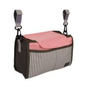 Nexlook Stroller Organiser Carriage Pram Cart Mummy Infant Nappy Mum Bags Water Bottle Nappy Pocket White