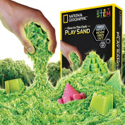 National Geographic Play Sand - 900 Grammes of Sand with Castle Moulds and Tray