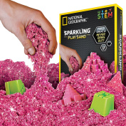 National Geographic NGSANDSPK2 Sparkling Play Sand with Castle Moulds and Tray, Pink