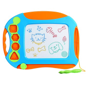 Magnetic Drawing Board, VicTsing Erasable Colourful Magna Doodle Drawing Board Toys for Kids with 4 Stamps and 1 Pen, Writing Sketching Pad - Gift for Little Boys Girls Kids Children, Travel Size