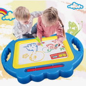 Magnetic Doodle Drawing Board for kids Colourful Sketching Erasable Pad Education Toys for Toddlers Children, Blue