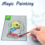 Bazaar 5Pcs Magical Water Painting Pictures Drawing Paper Pens Mats Kids Children Development Learning Toys