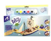 Wooden Model Ship for Kids +8