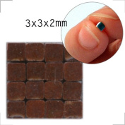 Mosaic-Minis (3x3x2mm), 1000 pieces, Red brown, RC02