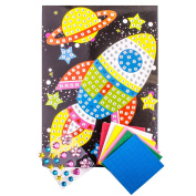 Kids Space Mosaic Art Set - Make Your Own Picture Activity