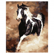 TOOGOO(R) DIY Oil Painting for Adults Kids Paint By Number Kit Digital Oil Painting Horse 41cm X 50cm