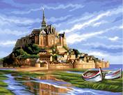 L'Art et la Manière Painting to the number pattern Mont-Saint-Michel 30 x 40 cm Colours Assorted