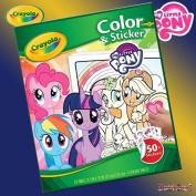 B-Creative Crayola My Little Pony 32 Page Colour & Sticker Book - Scenes & 50+ Stickers