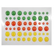 Pinzhi Enamel Dots Resin Scrapbooking Stickers Self-adhesive DIY Paper Album Crafts New FL-15