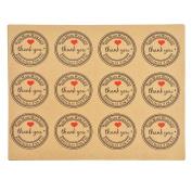 RainBabe Thank you Kraft Paper Sticker Pack for Children Chritsmas Diy Game Diary Toys