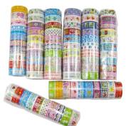 10 rolls Cartoon Kids Scrapbooking Decorative Sticker Masking Adhesive Washi Tape Roll Paper Sticker Decor