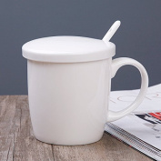 HAN-NMC Mug With Cover Spoon Breakfast Coffee Cup Ceramic Cup Cup