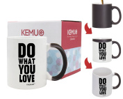 """Colour-Changing Mug Printed """"Do What You Love"""" Best Gift For Office Lady Man Woman Student Friends Boys And Girls White 330ml by KeMug"""