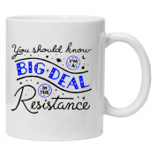 Star Wars Inspired - You should know I'm a big deal in the resistance! - Novelty 330ml white mug - Ideal gift for all occasions