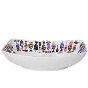 YMFIE European creative personality ceramic rectangular tableware Home Hotel fruit salad bowl baking plate