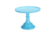 HETAO European Desserts cake tray Ceramic plate glass blue Tall wedding Decorations , trumpets