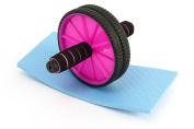 Abdominal Wheel Ab Wheel Roller fitem Pro Mat + Kneeling Stool – Device – Roulette Abdo Gym Abs