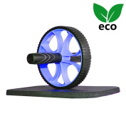 Ativafit Abdominal Exercise Roller Wheel Workout Wheel Abs With Free Thick Knee Mat Pad