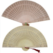 Kybbe Aromatic Wood Pocket Folding Hand Held Fans Elegent Home Decor Party Favours