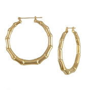 Juily Women Vintage Bamboo Punk Gold Big Hoop Large Round Circle Earrings Jewellery Gift