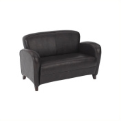 Office Star OSP Furniture Eco Leather Love Seat in Mocha