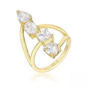 J Goodin R08564G-C01-07 3ct Stunning Cubic Zirconia Goldtone Ring - Size 7