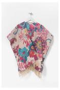 Desigual _ Essential Cotton Poncho, marfil 70x45x2 cm