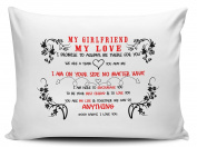 My Girlfriend My Love I Promise To Always Be There For You Novelty Gift Pillow Case