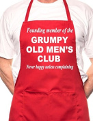 Grumpy Old Men BBQ Cooking Funny Novelty Apron