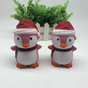 Stress Reliever Toys, Simulation PU Christmas Penguin Soft Slow Rising Stress Relief Toys Cute Cream Scented Simulation Creative Squeeze Toy for Kids Adults New Year's Gift