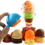 Hotsellhome Creative Kids Baby Ice Cream Tower Stack Up Gift Fast Food Cooking Simulation Play Toy