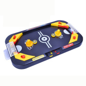 Hotsellhome Two Player Desktop 2 in 1 Soccer and Knock Hockey Mini Table Top Game - Classic Arcade Games Tabletop Soccer Ball Ice Hockey Shooting Fun Toy