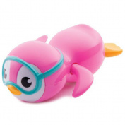 Clockwork Wind Up Swimming Penguin Baby Bath Toy By Bescita - Pink