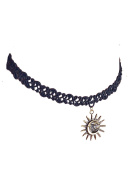 Rapidly Handmade Creative Lace Necklace Sun Pendant Clavicle Chain