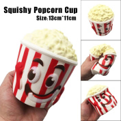 BBsmile-Big Popcorn Cup Squishy Scented Squishy Slow Rising Squeeze Toy Jumbo Collection Cellphone Key Chain Charm Pendant Strap Kid Gift